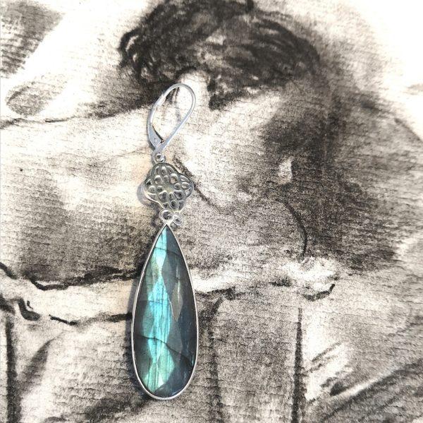 boucles d'oreilles positive attitude drops vaciouk bijoux