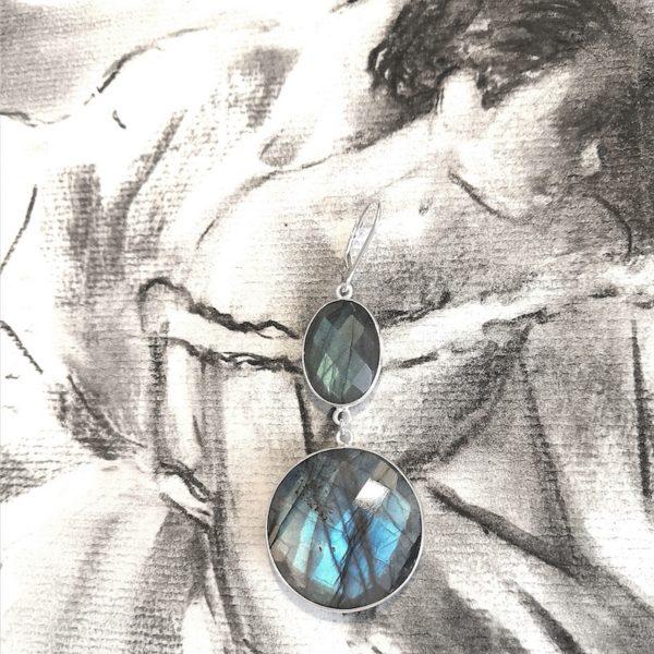 boucles d'oreilles positive attitude round vaciouk bijoux