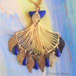 boucles d'oreilles soraya bleu vaciouk bijoux